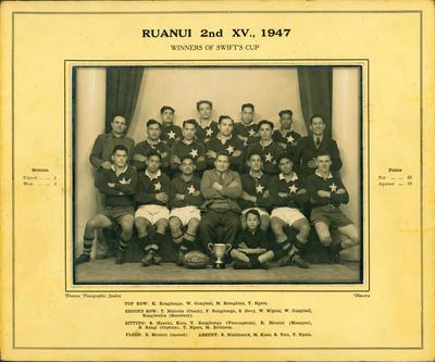 """""""Ruanui 2nd XV., 1947"""""""