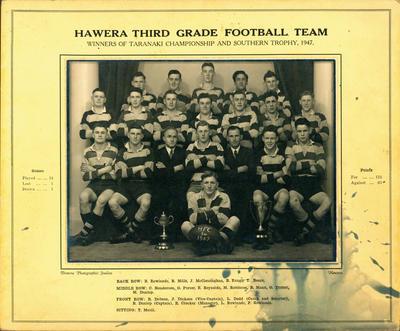 """Hawera Third Grade Football Team"""