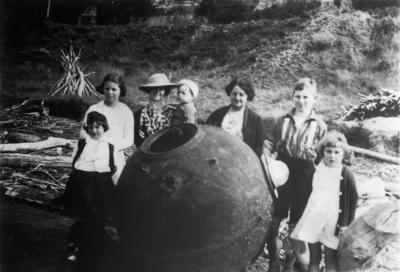 German mine at Mōkau Heads