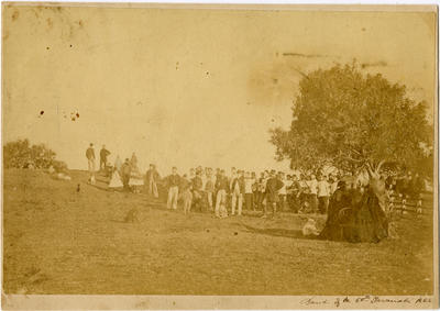 50th Regiment Band Performing in New Plymouth; 1866; PHO2001-111