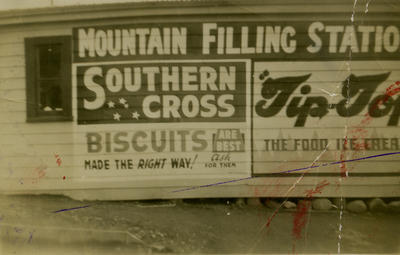 Signwriting on the Mountain Filling Station