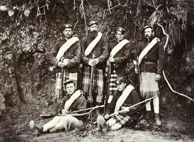 "Armed Constabulary ""Shawl Party"", New Plymouth; Circa 1870; PHO2002-405"