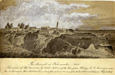 The Redoubt at Pukearuhe 1868