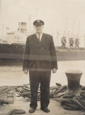"""C.V.Sole. Nightwatchman Taranaki Harbour Board"""