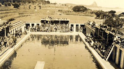 Swimming Competition, New Plymouth Saltwater Municipal Baths